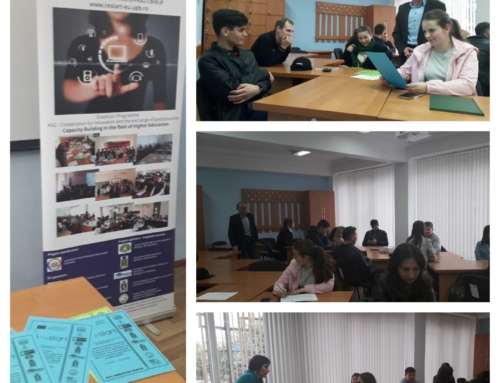 The fourth information session of the ReSTART project took place at the Moldova State University